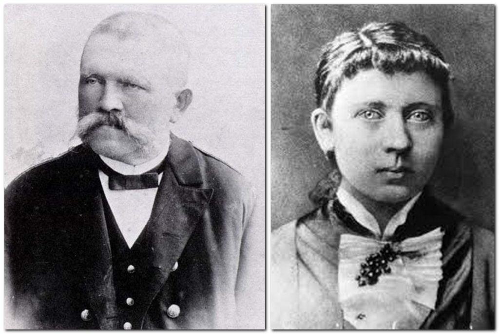Photographs of Hitler's father, Alois Schicklgrube and his mother, Klara Hitler.