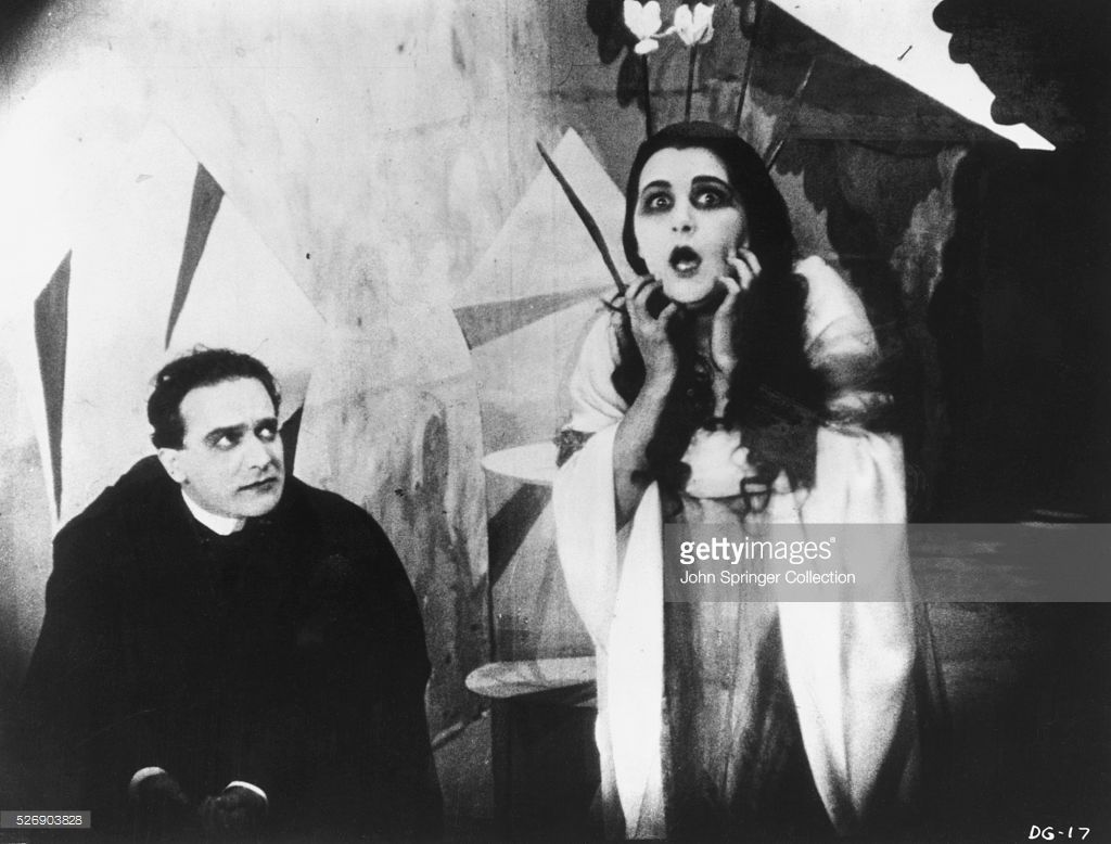 german expressionism horror movies; Actress Lil Dagover in the movie The Cabinet of Doctor Caligari, 1920. She portrayed Jane Olsen. Source: GettyImages.