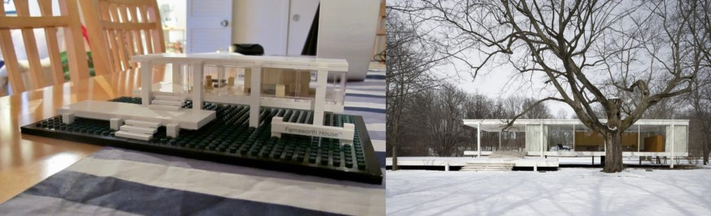 Lego architecture: Farnsworth House, Ludwig Mies van der Roher