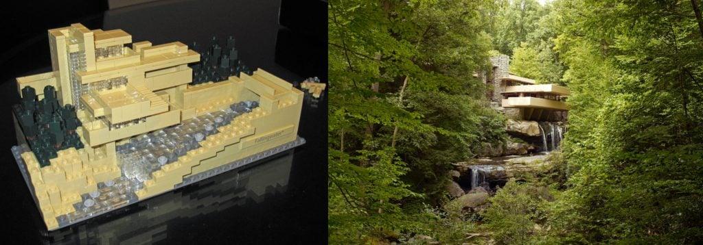 Lego Architecture: Fallingwater, Frank Lloyd Wright