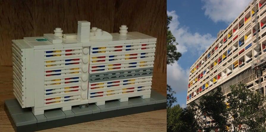 Lego architecture: L'Unite d'Habitation, Le Corbusier