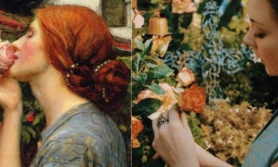 left - John William Waterhouse, The Soul of the Rose, 1908, Private Collection, right - Margaery Tyrell