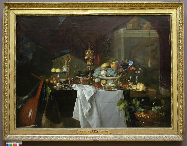 Jan Davidsz. de Heem, A Table of Desserts, 1640. Louvre Museum, Paris, France. © 2005 Musée du Louvre / Angèle Dequier
