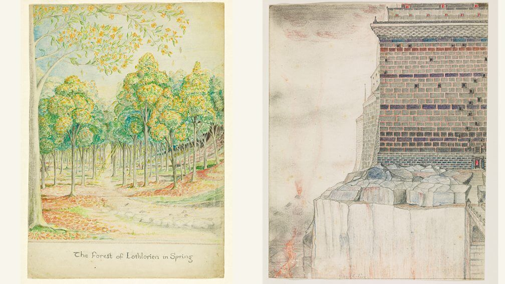 Middle Earth; Tolkien illustrations middle earth art