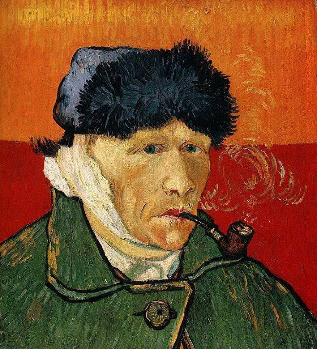 Vincent van Gogh, Self-portrait with Bandaged Ear, January 1889, Private Collection