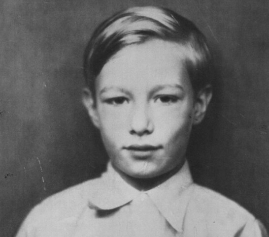Andy Warhol as a child