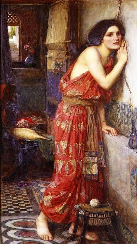 A Midsummer Night's Dream in art:. John William Waterhouse, Thisbe, Thisbe listening through a crack in the wall