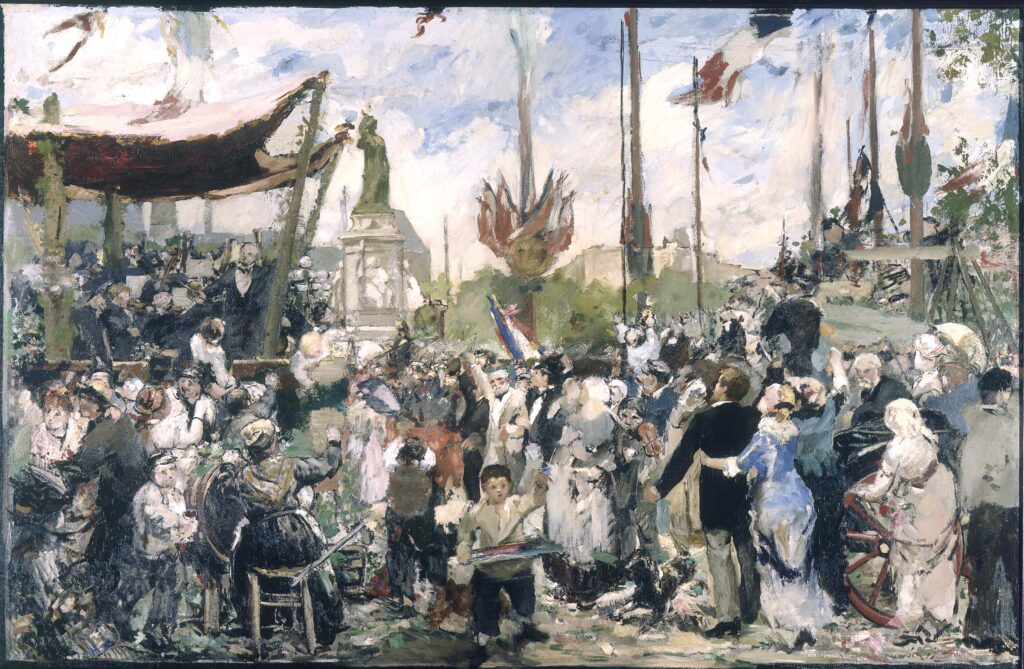 Alfred-Philippe Roll, Bastille Day, 1880 inauguration monument republic