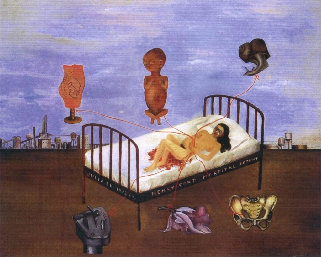 Feminist artists: Frida Kahlo, Henry Ford Hospital, Museo Dolores Olmedo, Mexico, Mexico.