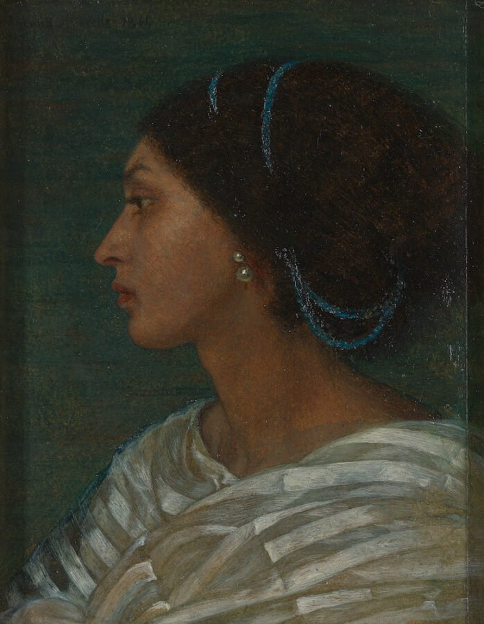 Five artist models you should know about: Joanna Boyce Wells, Study of Fanny Eaton (Head of a Mulatto Woman)