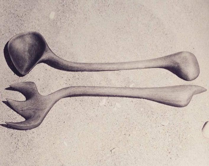 Valentine Schlegel Sculptor: Valentine Schlegel, hand carved wooden utensils.