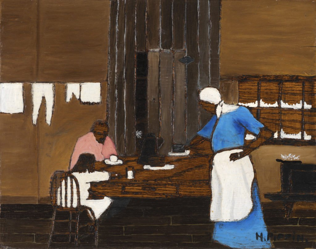 Horace Pippin, Supper TIme, a family sitting at the dinner table