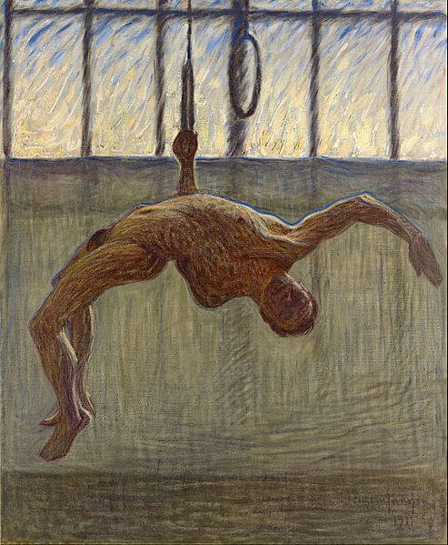 Male nudes in art history: Eugène Jansson, Ring gymnast I,