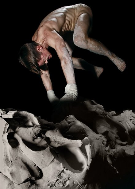 Cassils, Becoming an Image, performance still 1