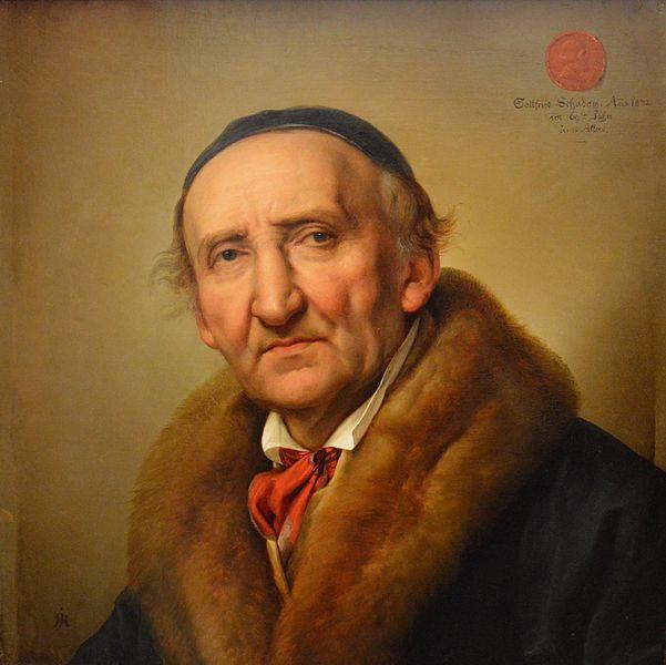 Julius Hübner, Portrait of Johann Gottfried Schadow
