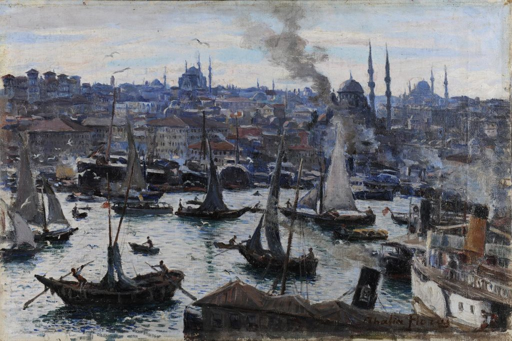 Greek Female Artists you Should Know: Thalia Flora - Karavia, Constantinople, c. 1905, oil on canvas, National Gallery of Greece, Athens, Greece.