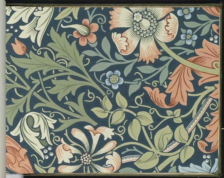 Morris & Co wallpaper sample book Brooklyn Museum