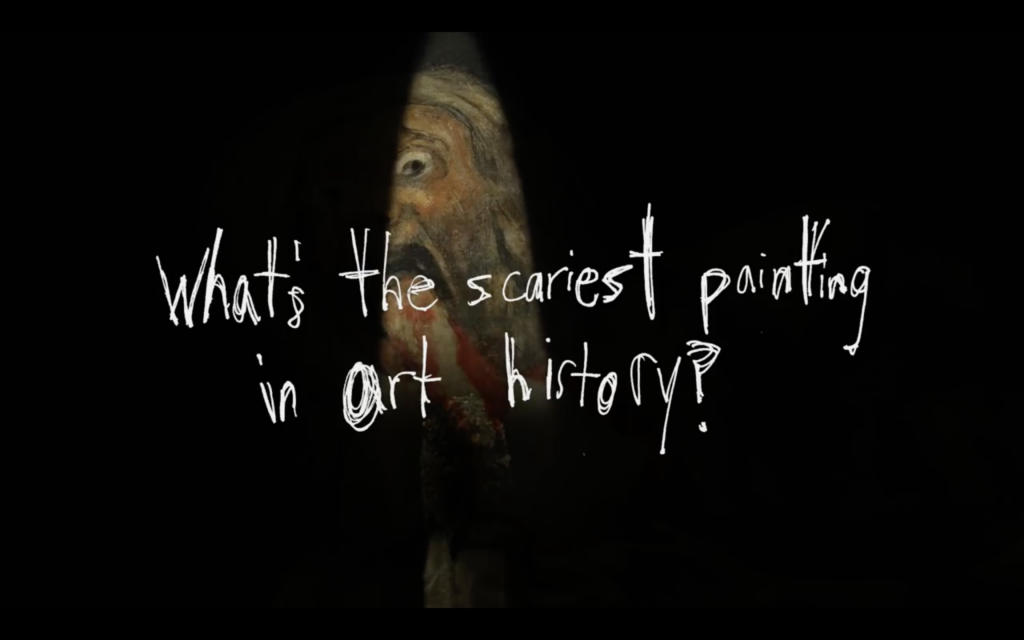 """Opening of the video """"The Most Disturbing Painting"""" of Nerdwriter"""