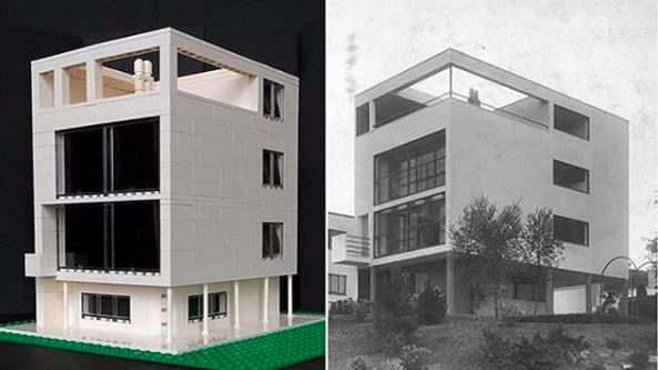 Lego architecture: Maison Citrohan, Le Corbusier