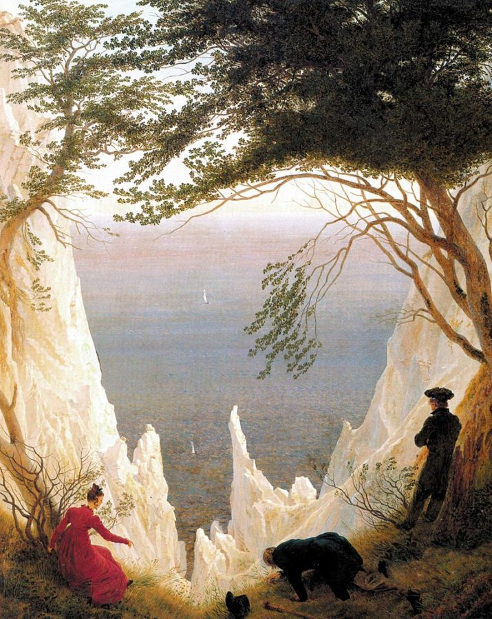 Caspar David Friedrich Chalk cliffs of Rugen, travel destinations