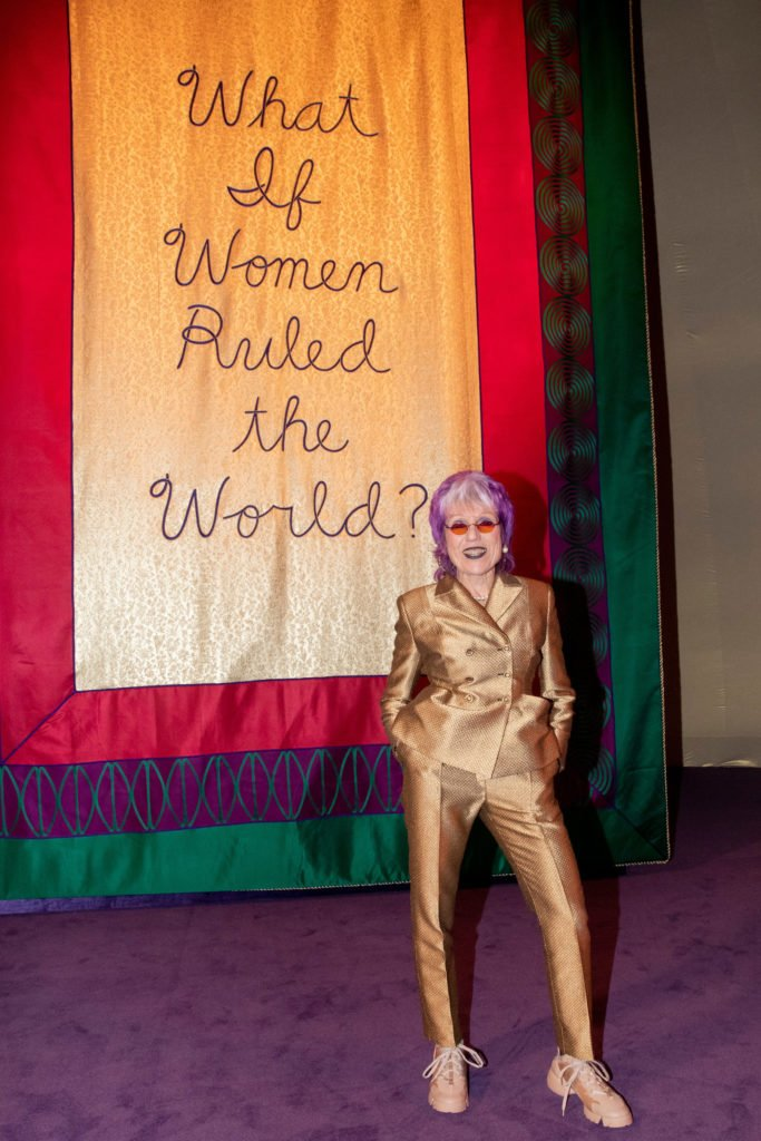 Feminist Artists: Judy Chicago, What if Women Ruled the World?, Dior's Spring/Summer 2020 Couture show, collaboration with Maria Grazia Churi.