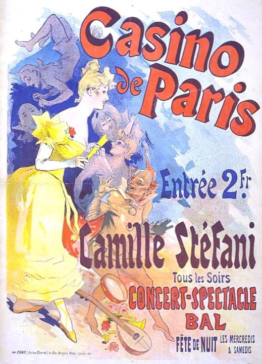 Vintage Parisian Advertisements: Jules Chéret, Casino de Paris Vintage Parisian advertising posters