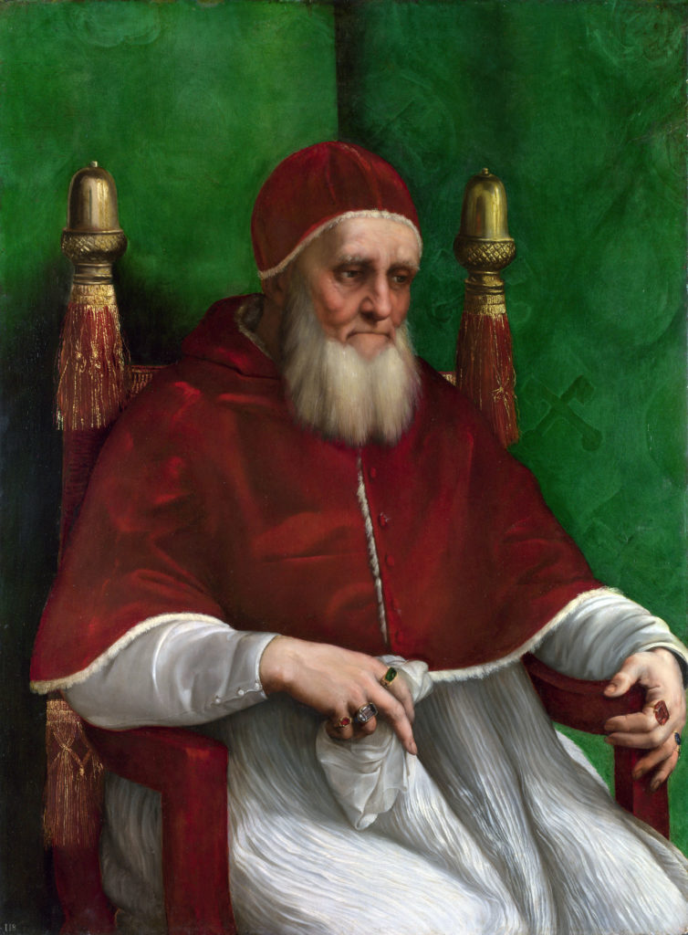 Portraits to know: Raphael, Pope Julius II, 1511-12, National Gallery, London, UK.