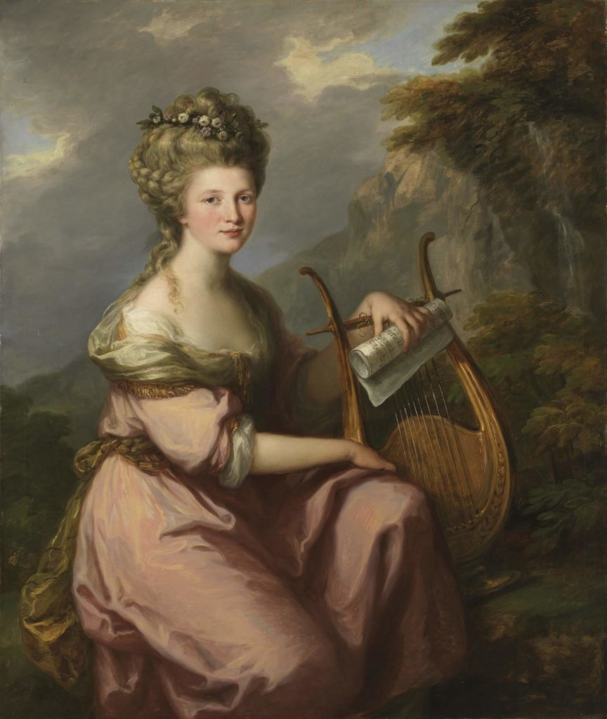 Portrait of Sarah Harrop (Mrs. Bates) as a Muse by Angelica Kauffman