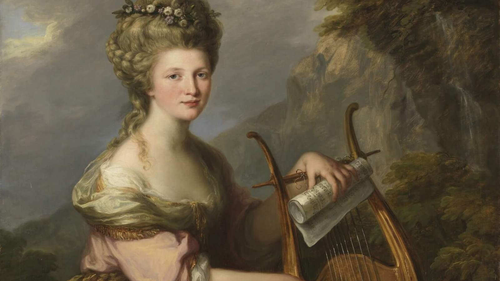Portrait of Sarah Harrop (Mrs. Bates) as a Muse by Angelica Kauffman cover