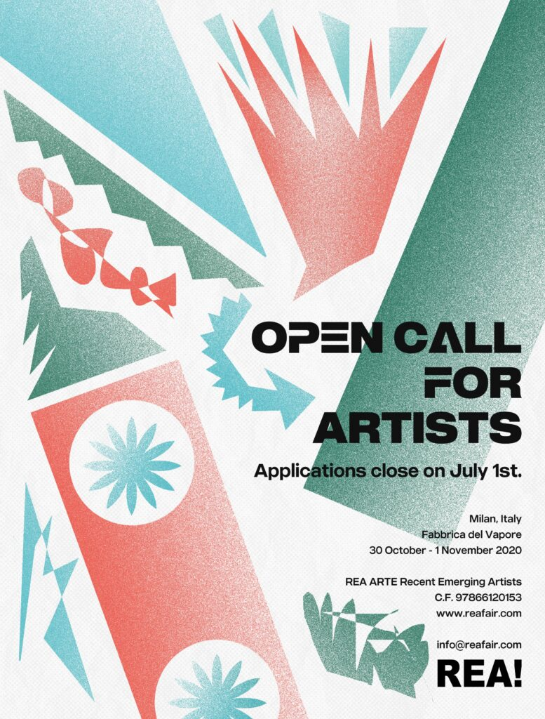 The REA! ARTE art fair: REA's Poster for their open call for artists