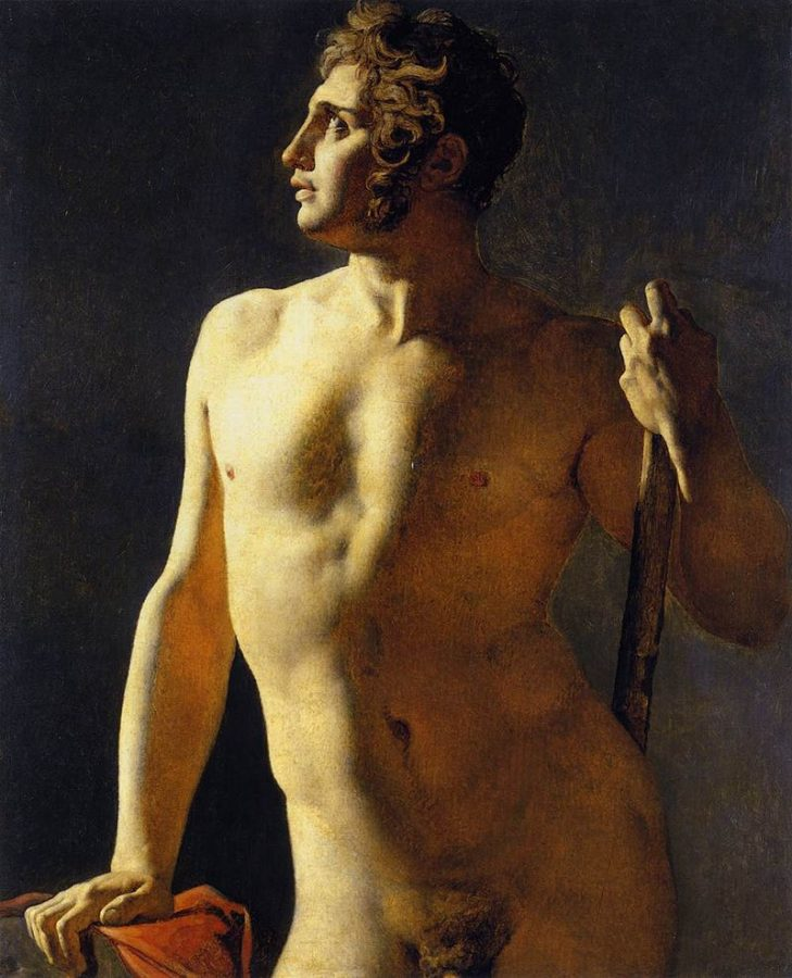Jean-Auguste-Dominique Ingres, Study of a Male Nude