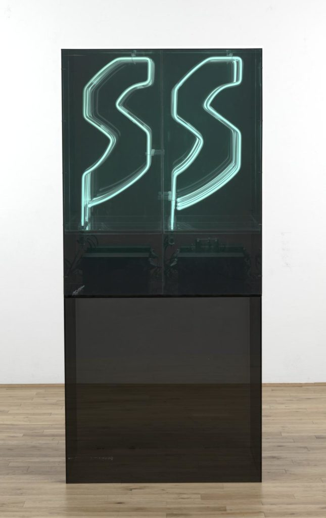 Chryssa, Study for Gates No. 4, 1967, Perspex, 8 neon lights and timer, Tate Modern.
