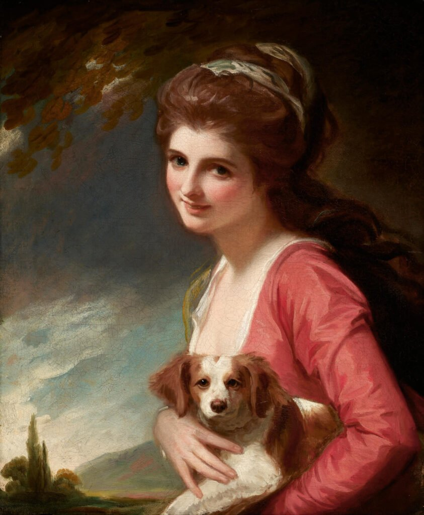 Lady Hamilton in Nature by George Romney Frick Collection masterpieces: