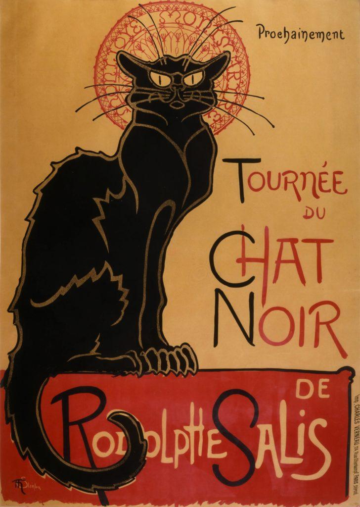 Vintage Parisian Advertisements: Théophile Steinlen, Tournée du chat noir Vintage Parisian advertising posters