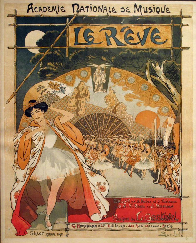 Vintage Parisian Advertisements: Théophile Steinlen, Le rêve, 1890 Vintage Parisian advertising posters