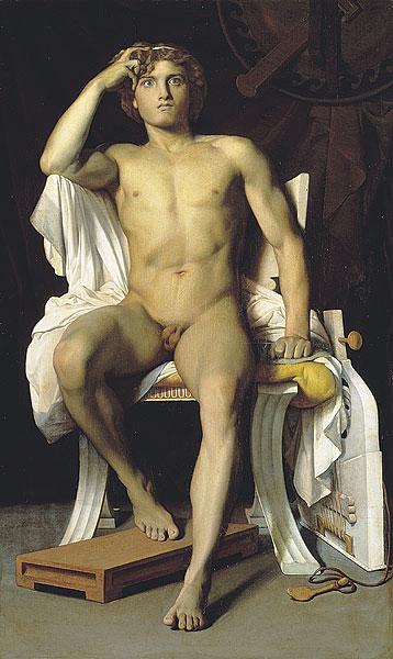 Male nudes in art history: François-Léon Benouville, The Wrath of Achilles,