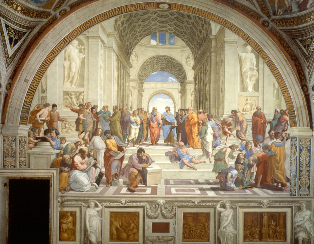 Photograph of Raphael's painting, School of Athens.