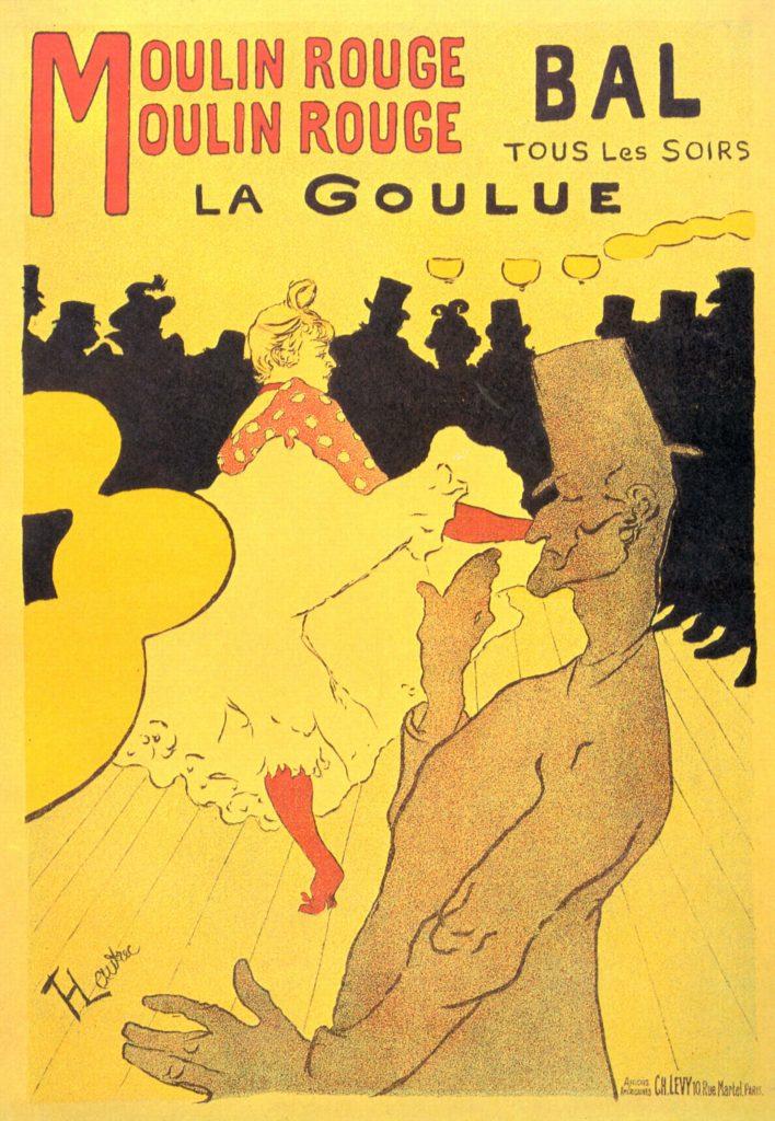 Vintage Parisian Advertisements: Moulin Rouge La Goulu Toulouse Lautrec