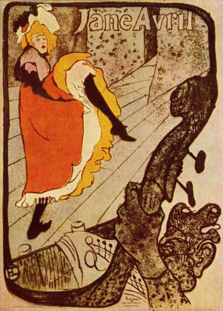 Vintage Parisian Advertisements: Toulouse-Lautrec, Jane Avril, 1893 Vintage Parisian advertising posters