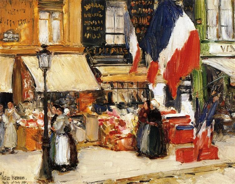 Childe Hassam, Bastille Day, Boulevard Rochechouart