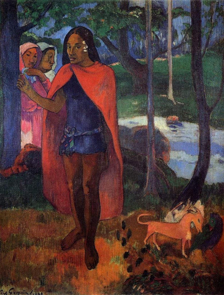 Paul Gauguin, The Sorcerer of Hiva Oa [also: Marquesan Man in the Red Cape],