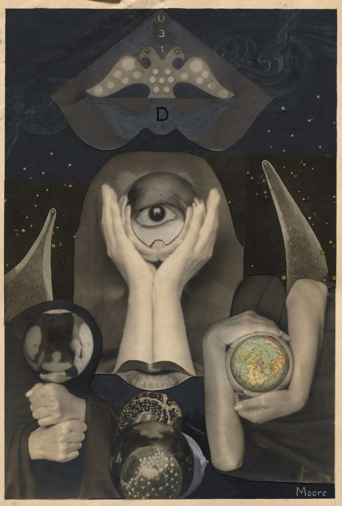 Claude Cahun, photomontage frontispiece for the book Aveux Non Avenus