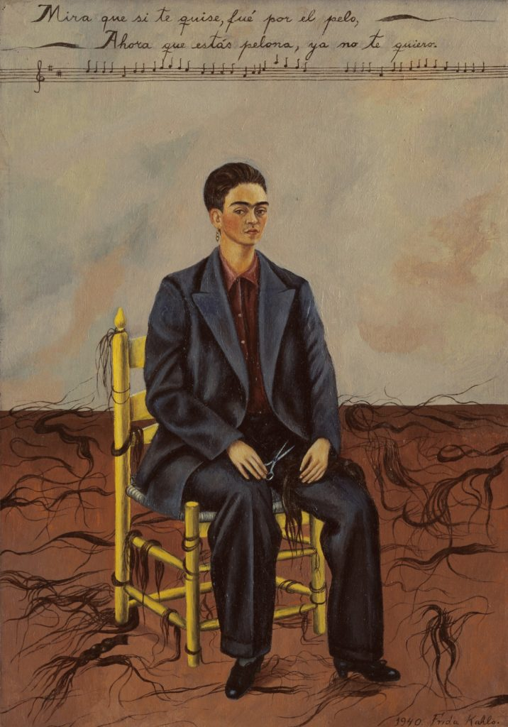Frida Kahlo, Self Portrait with cropped hair