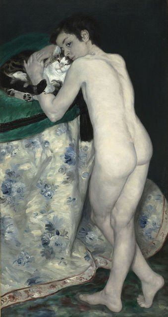 Male nudes in art history: Pierre-Auguste Renoir, Young Boy with a Cat,
