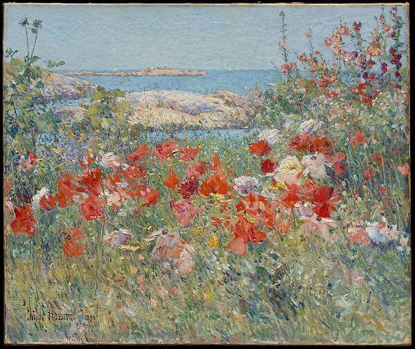 Childe Hassam, Celia Thaxter's Garden, Impressionism