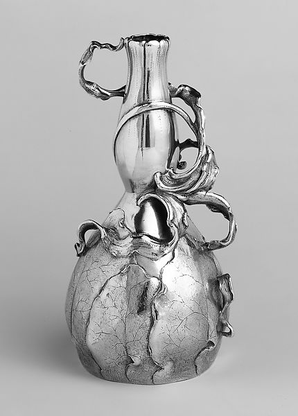 Designed by Philippe Wolfers, Vase, c. 1896, Silver, partly gilded, The Metropolitan Museum of Art, New York, USA.