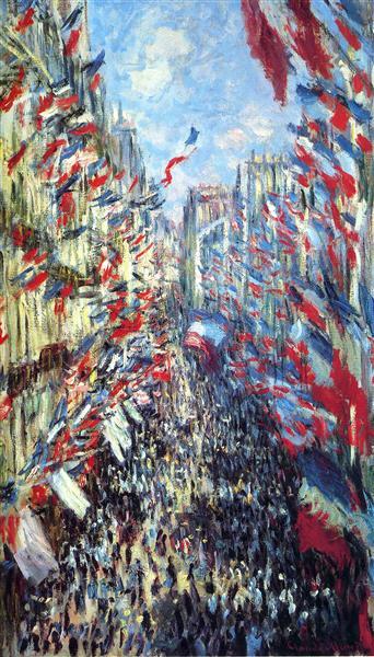Claude Monet, The Rue Montorgueil in Paris. Celebration of 30 June 1878