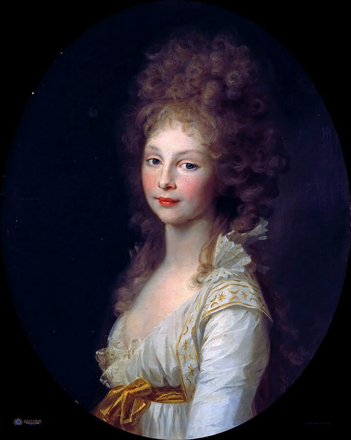 Johann Friedrich August Tischbein, Portrait of Frederica of Mecklenburg-Strelitz