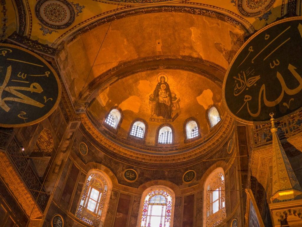 Theotokos mosaic Hagia Sophia