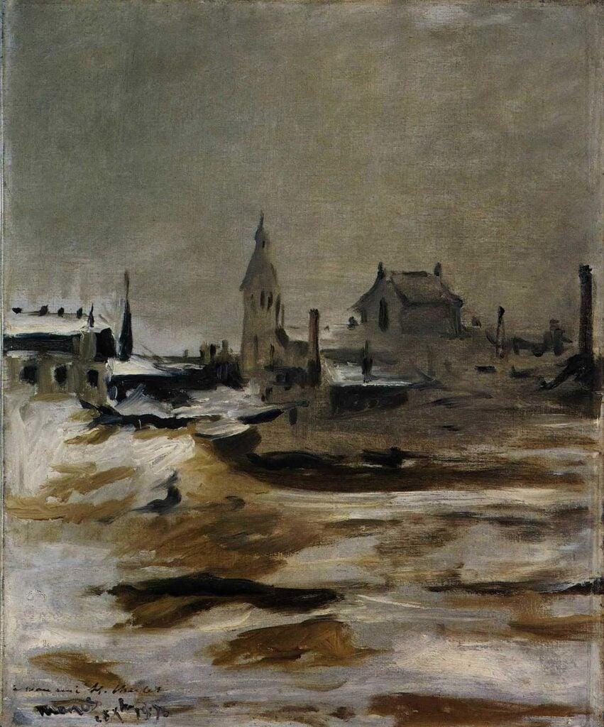 Édouard Manet, Effect of snow on Petit Montrouge